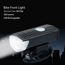 New Waterproof USB Rechargeable Battery Bike Front Lamp Bicycle Handlebar Light