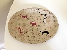 VINTAGE RETRO PLATE LE JACQUES POTTERY SIGNED MID CENTURY GRAPHIC 50s  ABSTRACT