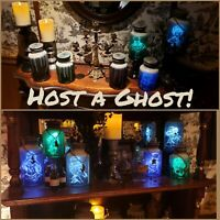 COMPLETE SET Disney Park Haunted Mansion 50th Host Ghost Spirit Jars Passholder