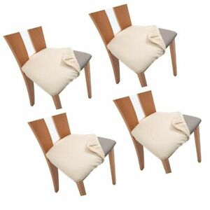 Stretch Dining Chair Seat Cushion Slipcovers Chair Cover Seat Covers Protector