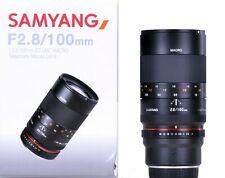 Samyang 100mm F2.8 Macro ED UMC Fuji X Mount - Ex-Demo