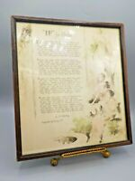 "Antique Vintage Buzza Motto Print ""IF"" For Girls Kipling McEvoy Framed Print"