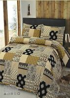Patchwork 100% Cotton King Size Bedding Set Duvet Quilt Cover With Pillowcases