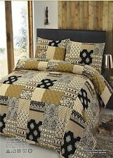 Patchwork 100% Cotton Duvet Quilt Cover Bedding Set With Pillowcases DOUBLE SIZE