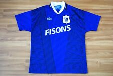 IPSWICH TOWN ENGLAND 1994/1995 HOME FOOTBALL SHIRT JERSEY MAGLIA UMBRO VINTAGE