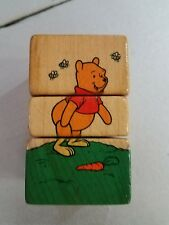 Vintage DISNEY Wooden Twist Block Puzzle Toy, Winnie the Pooh