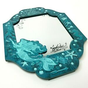 Disney Parks Little Mermaid Signed Ariel Mirror Seas The Moment Stand Hang RARE