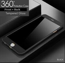 For iPhone 6S Plus Case Tough Hybrid Hard Front Back Shockproof 360 Cover Black