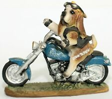 Dog Bad A*s Biker With Attitude Showing Rude Finger Paw Born To Bark 12 cm Wide