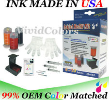 Cartridge refill ink for printer hp 63/62/64/65/65xl- tri Color CMY cartridge