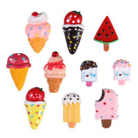 10Pcs Set Refrigerator magnets Fruits Donuts Ice Cream Kids Toys For your Fridge