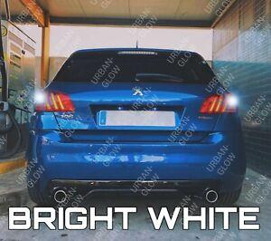 For Peugeot 308 MK2 2013-on Xenon White LED Reverse Light Bulbs Upgrade