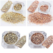 2Boxes Nail Glitter Sequins Holographic UV Gel Nail Art Laser 3D Decoration Lot