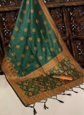 Bollywood Sari Handloom raw silk  Indian Wear Special Wear Designer Sari I 10-5