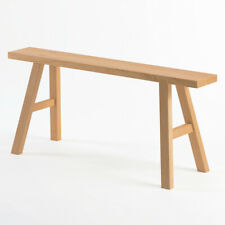 "New MUJI White Oak Wooden Stool Bench L 39x11x17"" Side Table Japan"