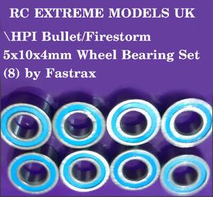 HPI Bullet/Firestorm 5x10x4mm Wheel Bearing Set (8) by Fastrax LANCS UK