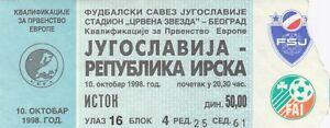 football ticket YUGOSLAVIA vs IRELAND UEFA EURO 2000 qualification game soccer