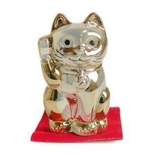 Baccarat Maneki Neko Lucky Cat Crystal object Figure Gold Type 10cm