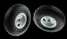 2 x HAND TROLLEY WHEELS,  HAND TRUCK RIMS & TYRES 4.1/3.5-4 OFFSET