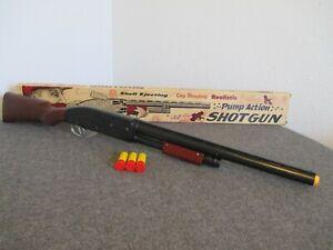 1950'S LOUIS MARX PUMP ACTION SHELL EJECTING SHOTGUN W/ ORIGINAL BOX TOY CAP GUN