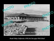 OLD LARGE HISTORIC PHOTO OF DEATH VALLEY CALIFORNIA, STOVEPIPE WELLS HOTEL c1930