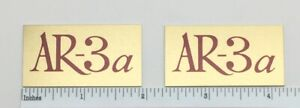 AR-3a Acoustic Research Speaker Badge Logo Emblem Pair Free Shipping