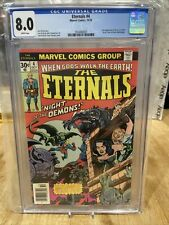The Eternals 4 CGC 8.0 Jack Kirby Cover MCU 2nd Appearance of Sersi Marvel 1976