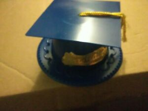 Blue Graduation Cap Hat For Cakes or Other Large Cookie/Cupcake