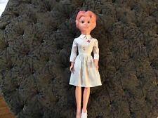 Vintage Plastic 19� Red Cross Nurse Doll Made In Hong Kong