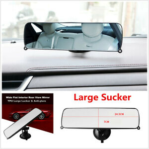 1Pcs Large Sucker Rear View Mirror Universal Wide Large Car Dash Mount Rearview