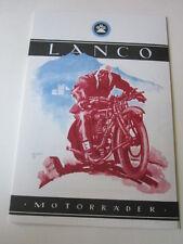 Motorrad Archiv Edition Faksimile 1973E LANCO Motorräder Wien 1924-1926 Prospekt