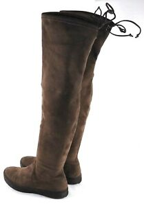 STUART WEITZMAN Taupe Suede Pull On Over the Knee Boots 6 M