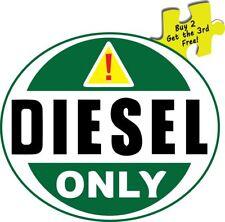 Diesel Fuel Only Truck Fuel Tank Oval Decal Sticker