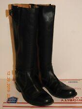 SENDRA Women's Riding Equestrian Boot Black Leather Side Zipper Size 7 1/2 Great