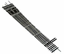 Oscale Turnouts, Inc. #10 right Hand Turnout,  2-Rail, Code 148, Mounted on Ties