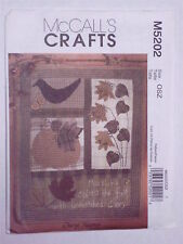 Pattern for Fall Quilt & Wallhanging Pumpkin Leaves Sunflowers McCall's M5202