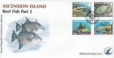 La isla de Ascensión 2012 Fdc peces de arrecife Parte 2 4v cubierta trumpetfish Pavo Real a Flounder