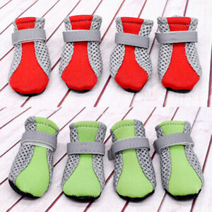 4pcs Pet Dog Boots Breathable Puppy Shoes Non Slip Paw Protector