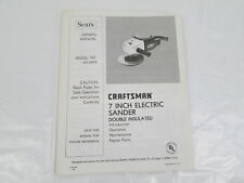 Sears Craftsman 7 Inch Electric Sander Original Owners Manual Model 315.10570