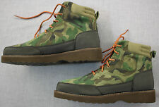 RALPH LAUREN Mens Bearsted Camo Suede Leather Winter Ankle Work Boots  NEW  11.5
