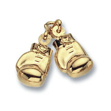Boxing Gloves Pendant Boxing Gloves Charm Yellow Gold