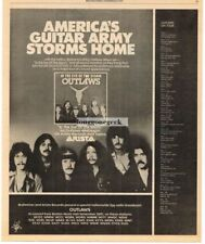 1979 The Outlaws In The Eye Of The Storm Vtg Album Promo Print Ad