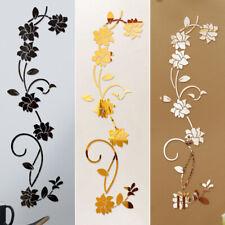 Espejo de Pared Adhesivo Flor Vid Arte HAZLO TÚ MISMO Casa Habitación Decoración Pegatinas de pared Calcomanías