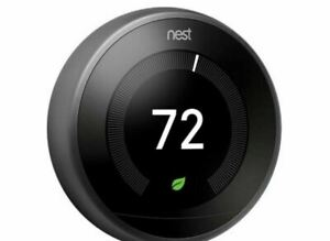 Nest T3016US   BLACK 3rd Generation Learning Thermostat / BLACK
