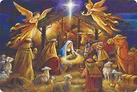 "Nativity Christian Cross Jesus Christ Lord GOD Aluminum 12"" x 8"" Plaques Signs"