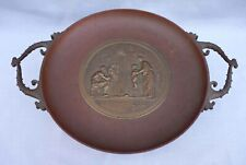 F Barbedienne Le Masque Tazza Footed Dish French Bronze F Levillain 19th C