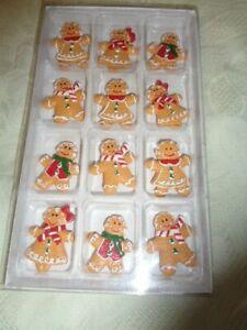 12 x Lebkuchen Mann Frau      ca. 3,5 cm  mini Weihnachten Klebepunkt  528 OVP