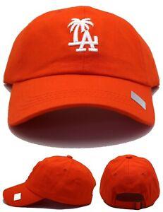 Los Angeles New Leader Women Ladies Palm LA Headline Dodgers Orange Era Hat Cap