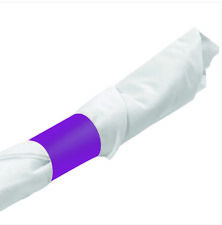 MH Paper 4.25 x 1.5 Purple Napkin Bands (20,000) Self Adhesive