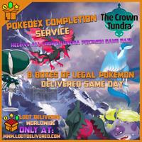 Pokemon Sword & Shield Pokemon Crown Tundra Pokedex Completion Service